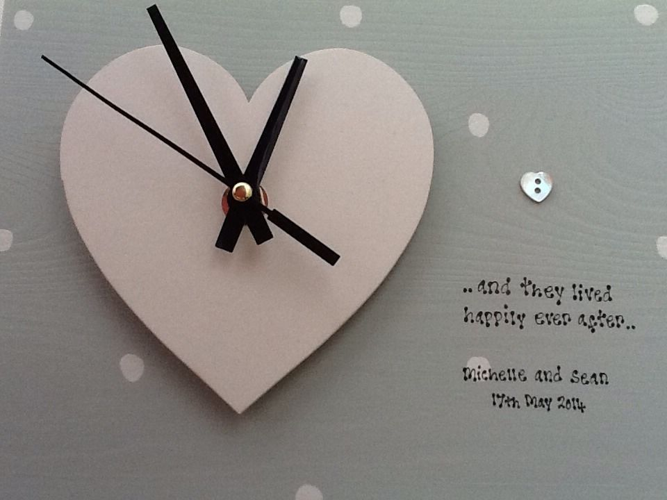 Shabby Personalised Gift Chic Clock Special Wedding Gift Bride